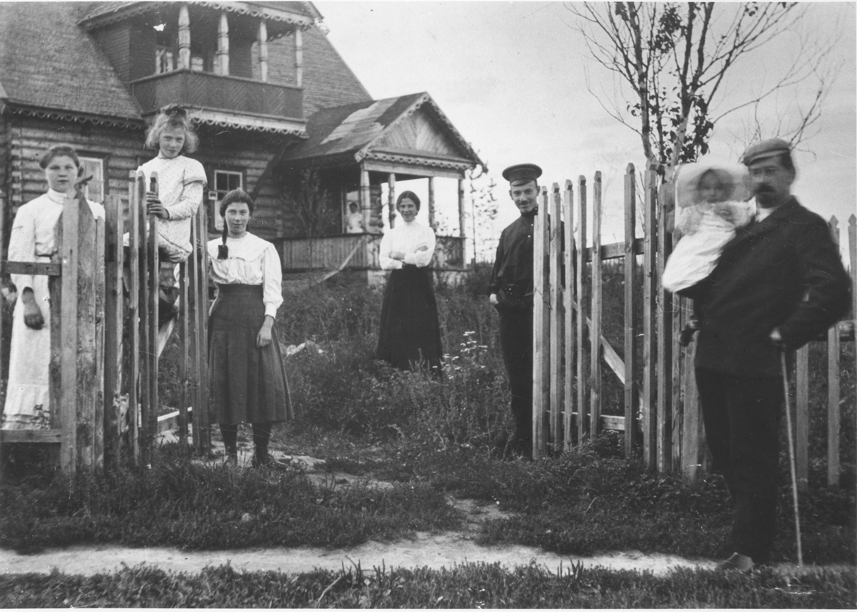 Members of the Mikolaevsky family at their dacha in the village of Strelna, a suburb of St. Petersburg.