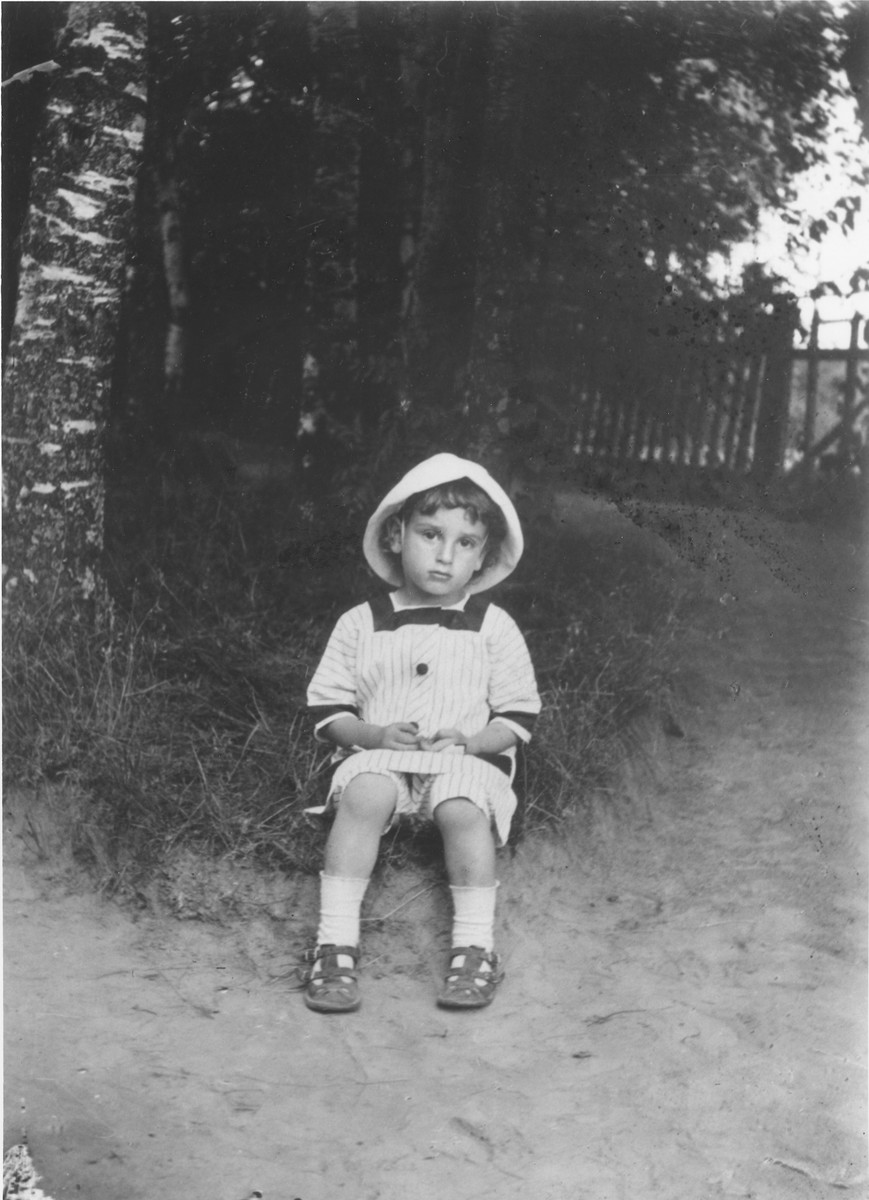 Portrait of Sasha, the oldest son of Mark and Maria Maggid at their dacha in the village of Strelna, a suburb of St. Petersburg.