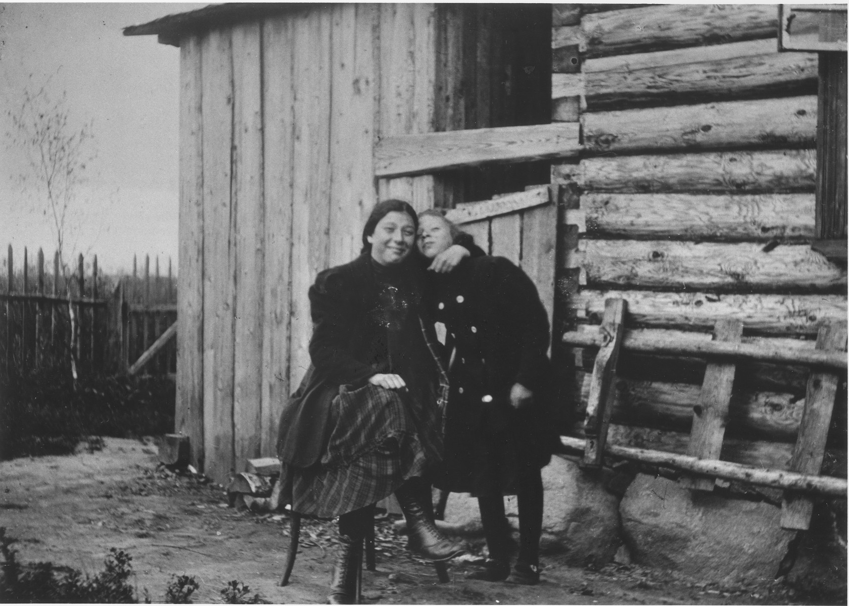 Portrait of two members of the Mikolaevsky family at their dacha in the village of Strelna, a suburb of St. Petersburg.