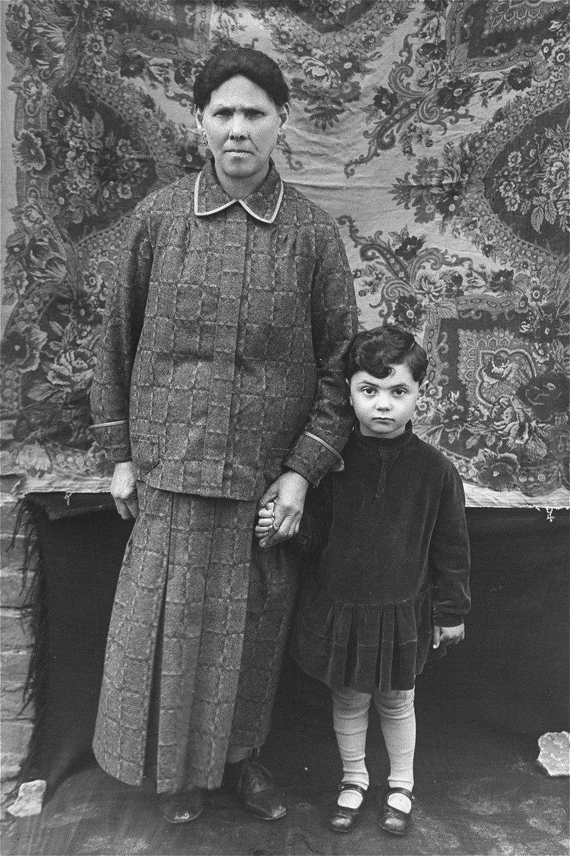 Portrait of a Jewish mother and son, who were cousins of the donor's mother.