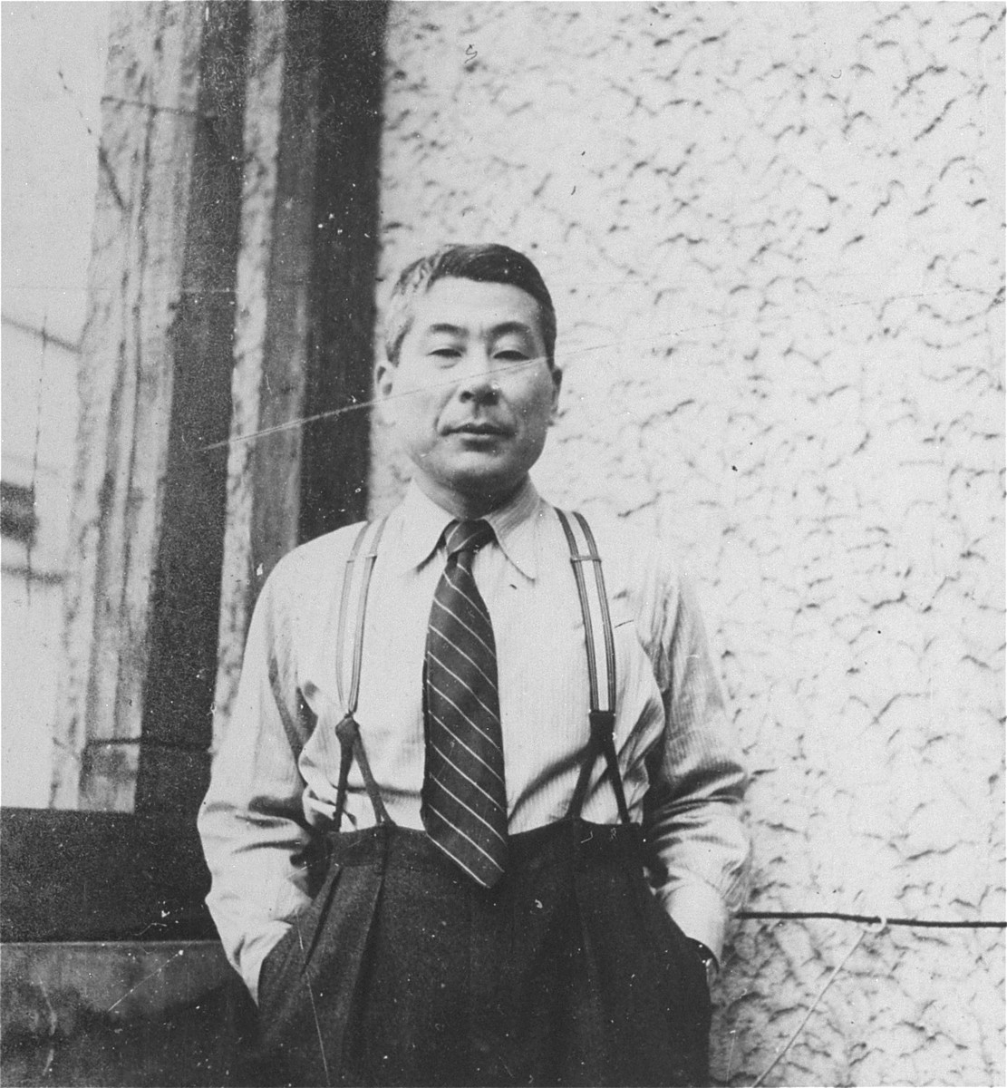 Portrait of Chiune Sugihara in Kaunas.