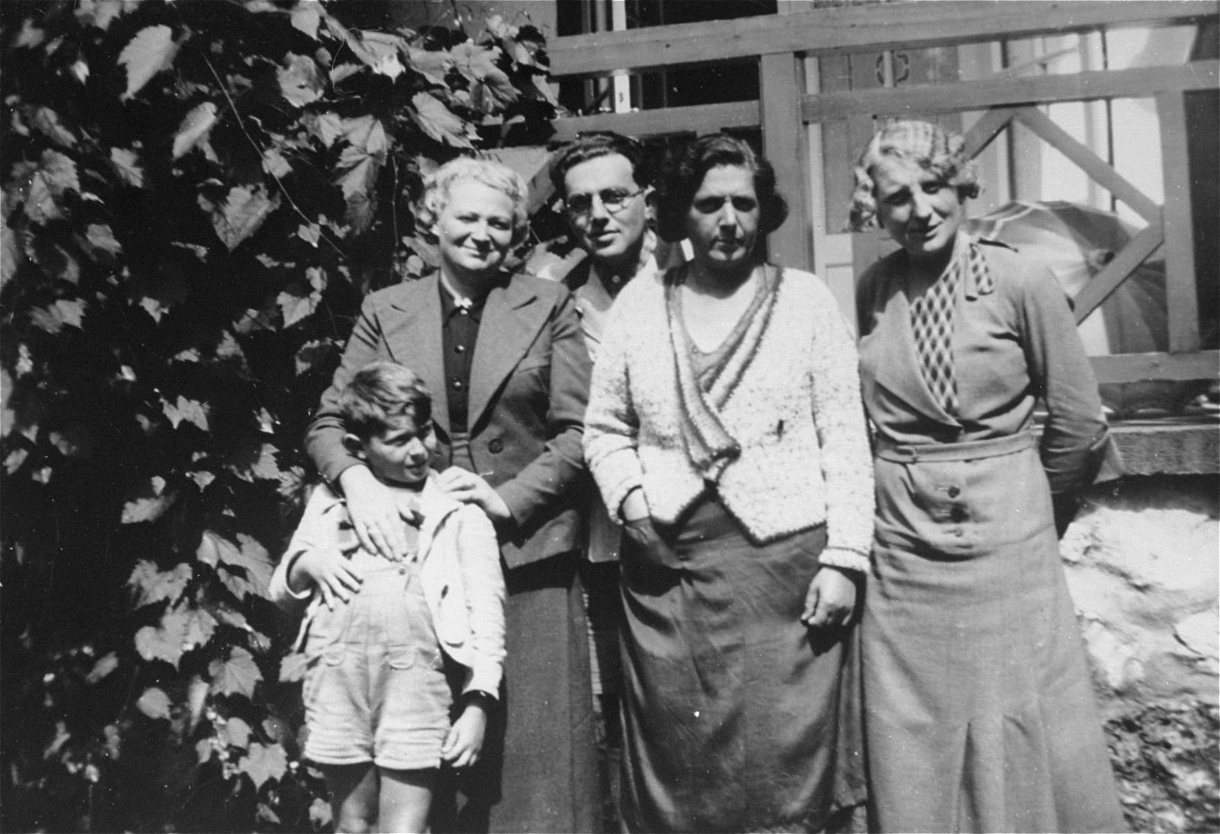 Members of the Goldstaub family in Groebing, Austria.