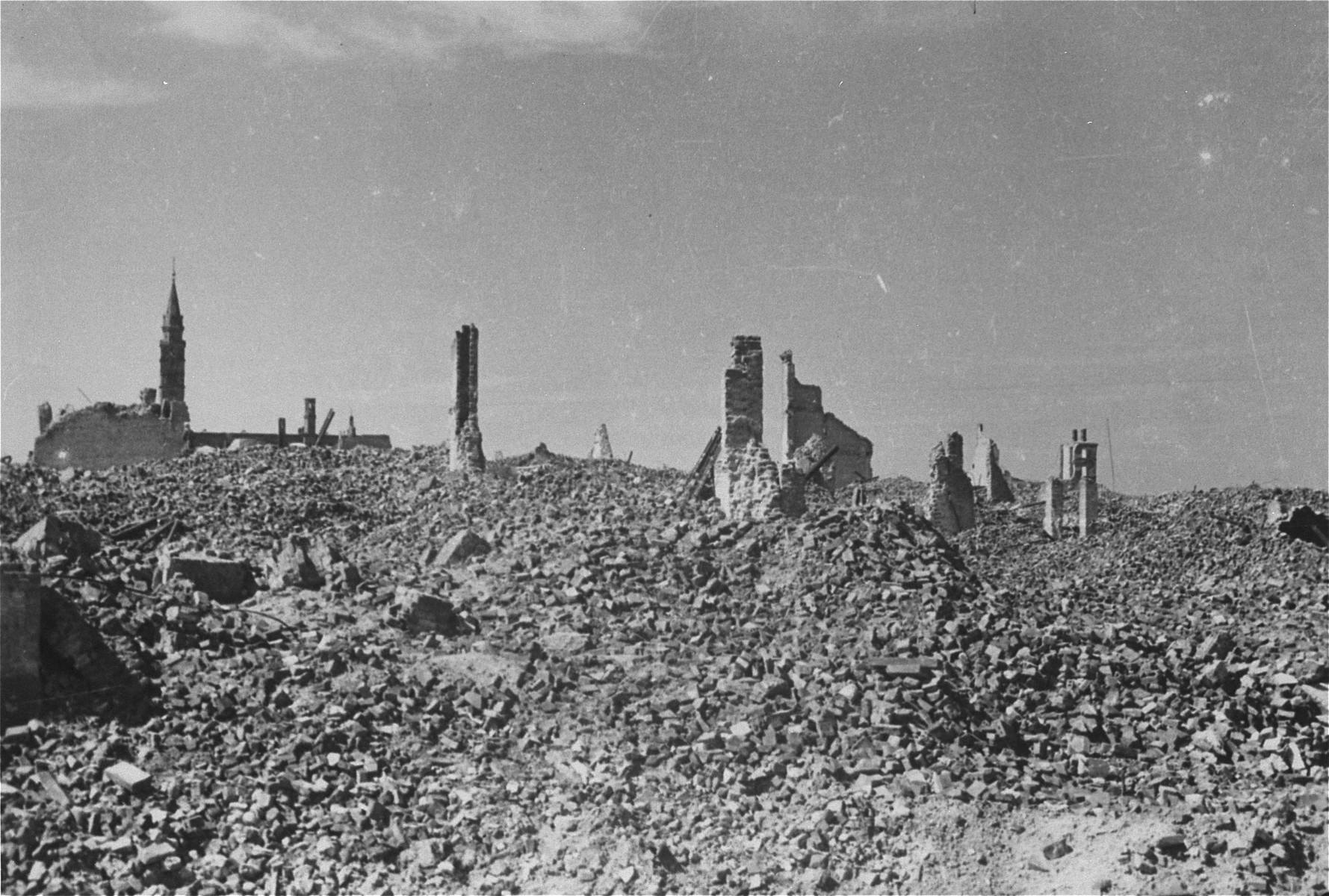Ruins of the Warsaw ghetto.
