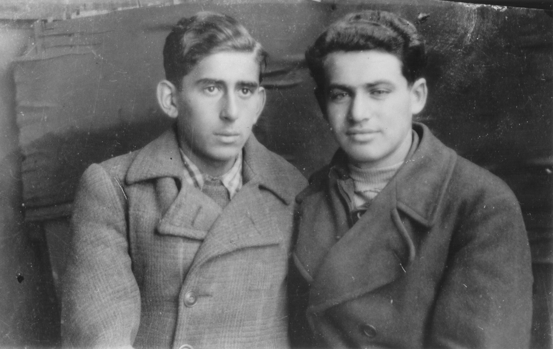 Aaron Yermus and his classmate Moshe Kristol.  The two attended a Russian, Polish school in Kzyl-Orda, Khazakstan during the war.    The student body was 60% Jewish and 40% non-Jewish.  Its students were mostly Polish refugees seeking haven in the Soviet Union.