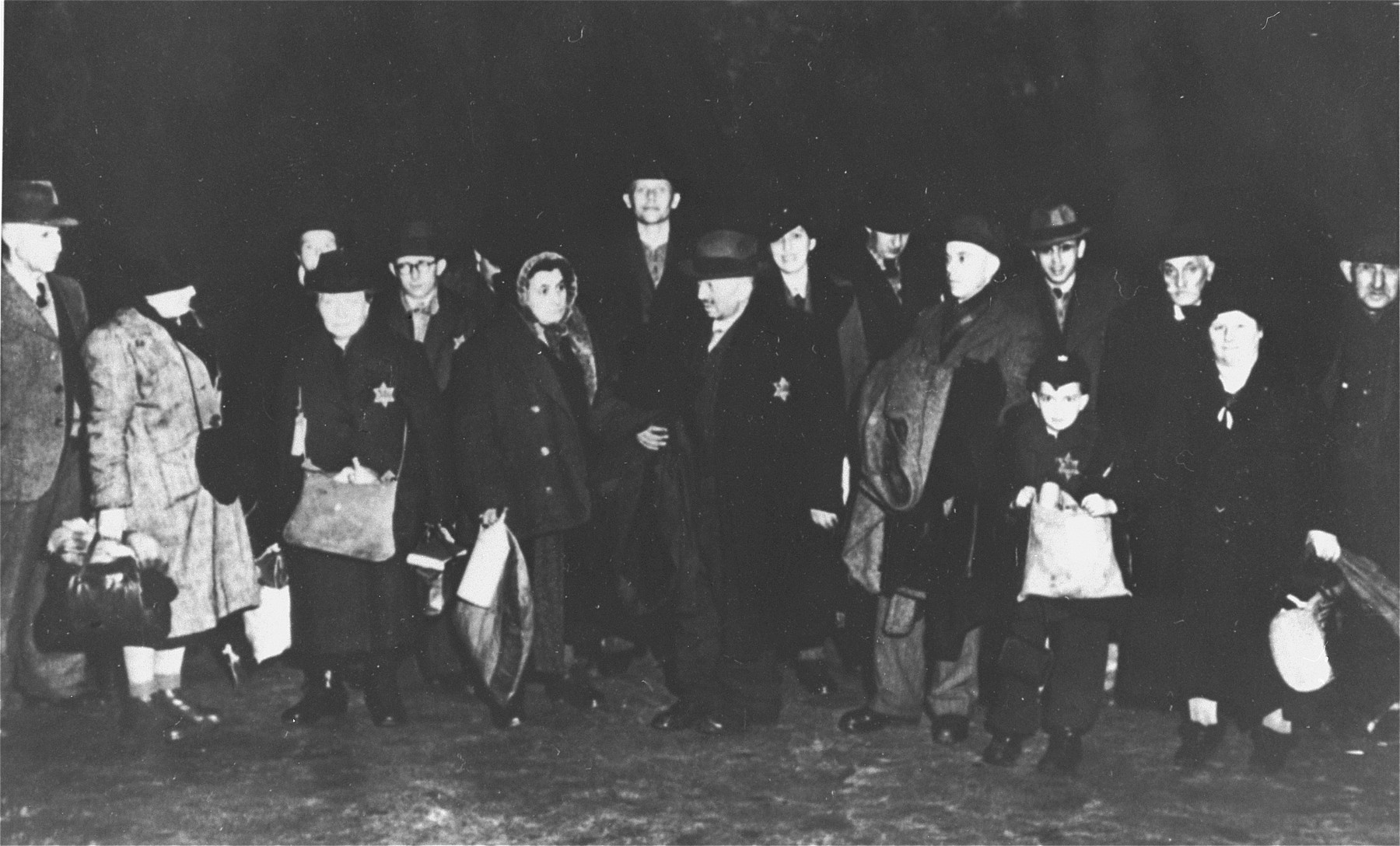 German Jews from the town of Coesfeld are assembled for deportation to Riga, Latvia.