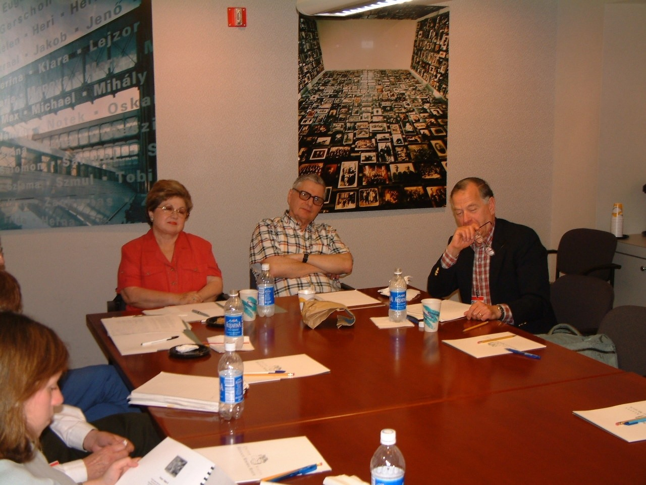 Survivor volunteers attend a session of The Memory Project: the Survivors' Writing Workshop at the U.S. Holocaust Memorial Museum.