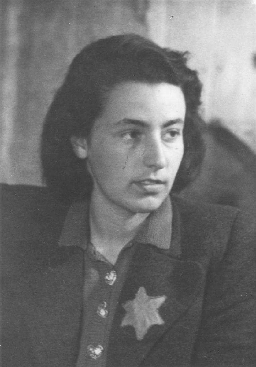 Portrait of Margarita Shtromaite taken in the Kovno ghetto shortly before her marriage to Joseph Kagan.