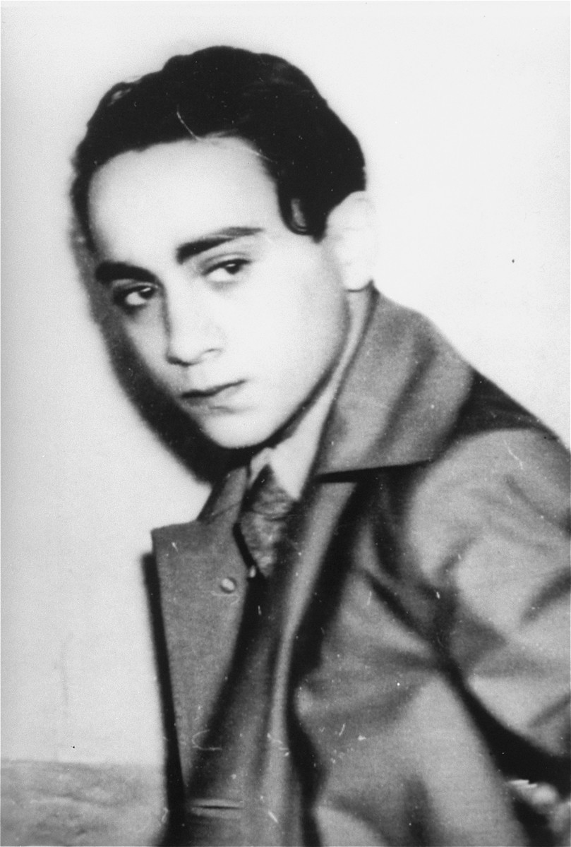 Portrait of Herschel Grynszpan taken after his arrest by French authorities for the assassination of German diplomat Ernst vom Rath.