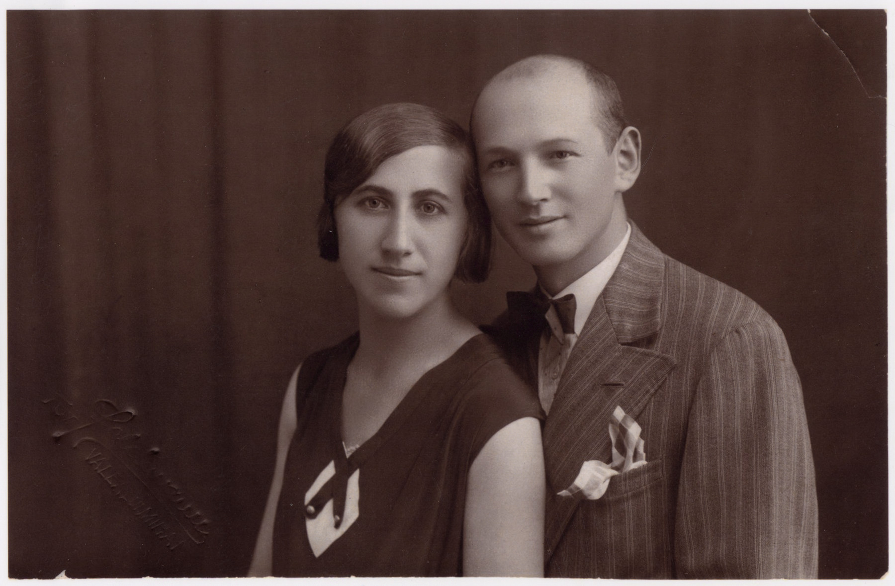 Portrait of Ilonka and Marton Salamon on their second wedding anniversary.