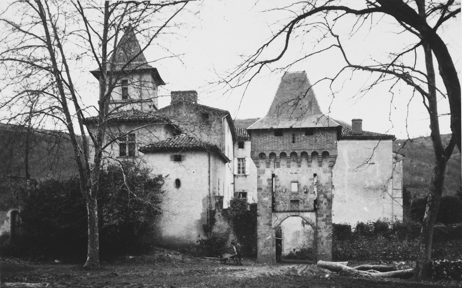 View of Chateau de la Hille.