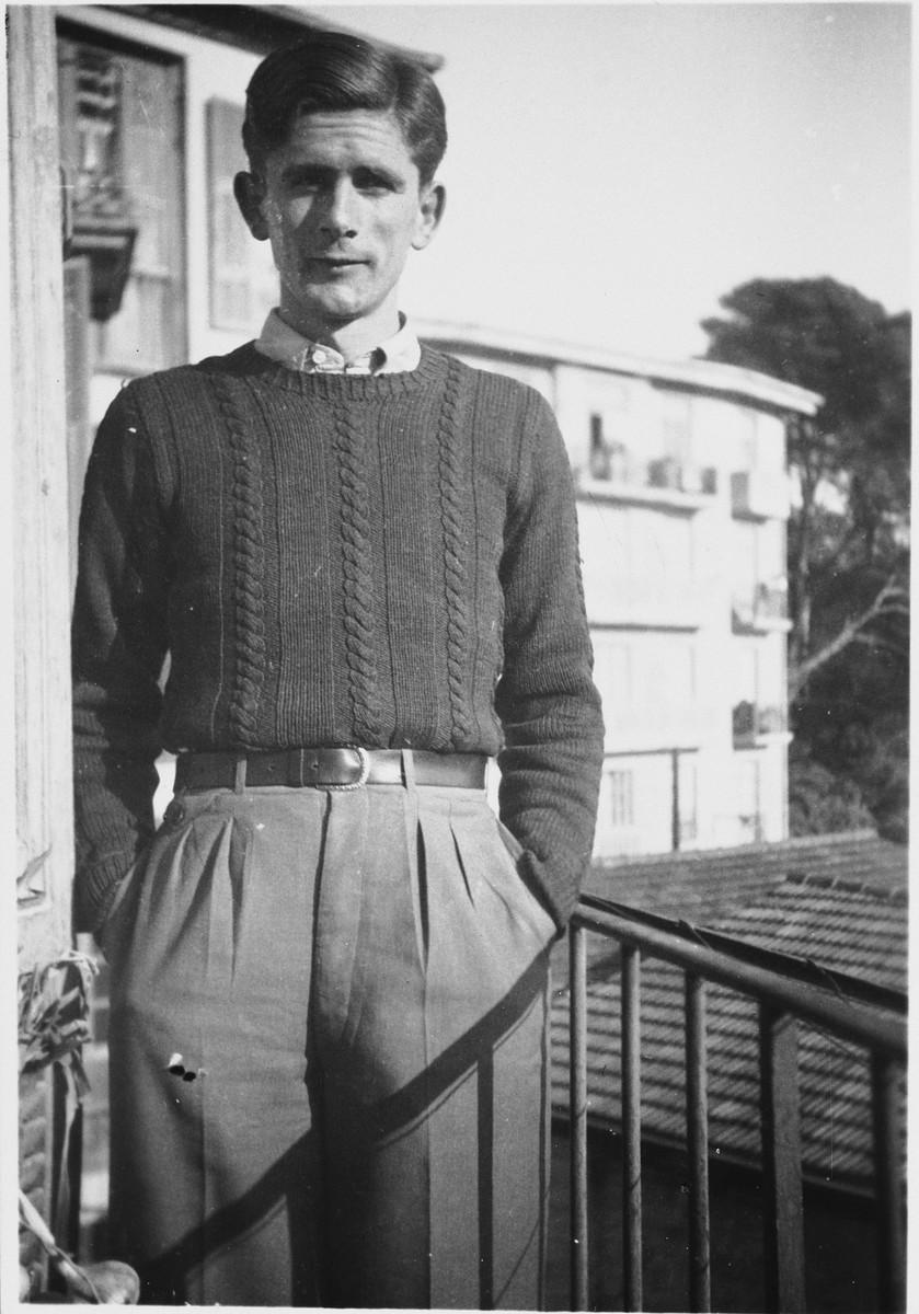 Portrait of Sebastian Steiger, a counselor at Chateau de la Hille.