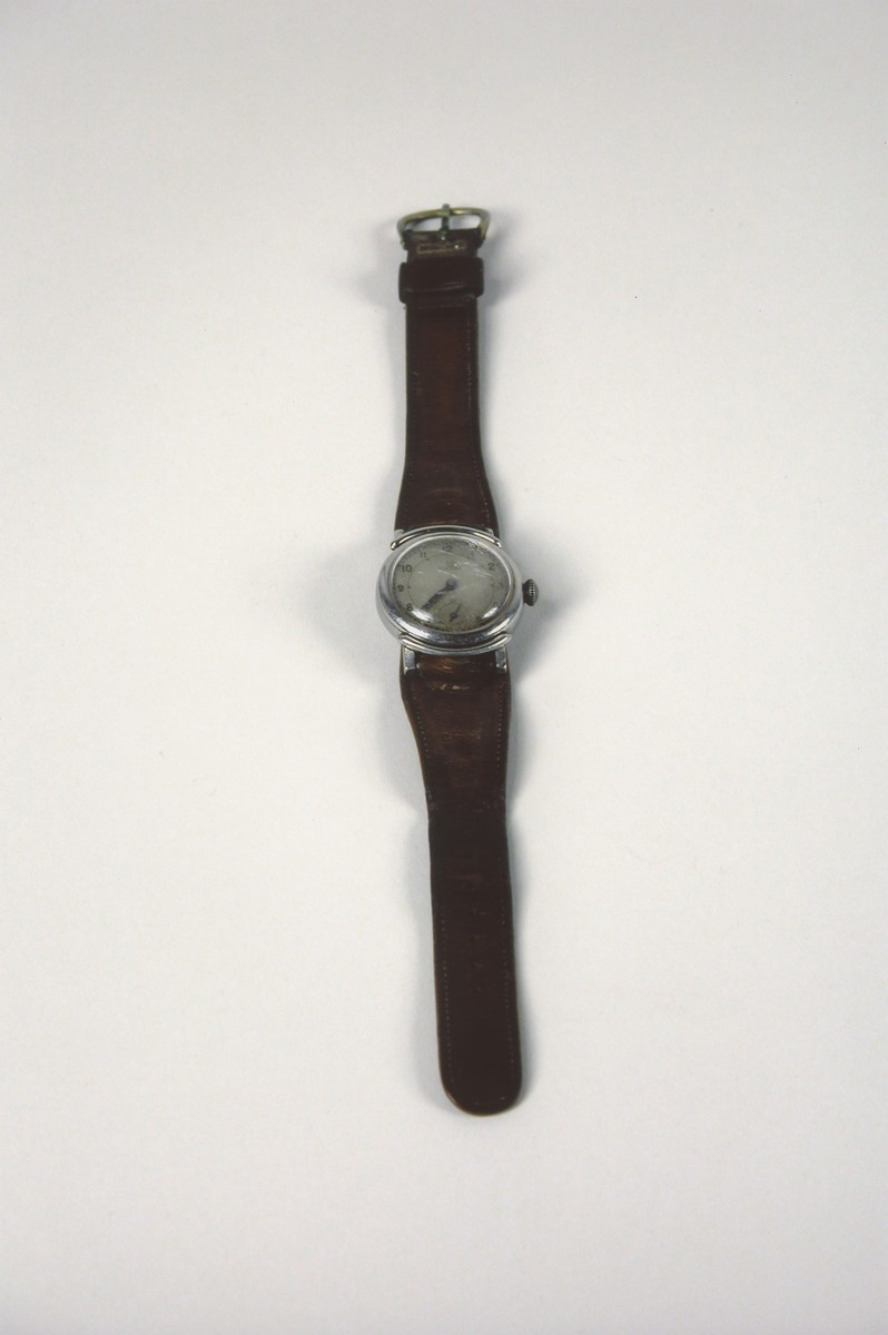 An Omega watch belonging to Bela Gondos, a physician who was a passenger on the Kasztner rescue train.  Gondos wore the watch daily in Bergen-Belsen, Switzerland and in the U.S. until he replaced it in the 1960s.  The watch band is not original.