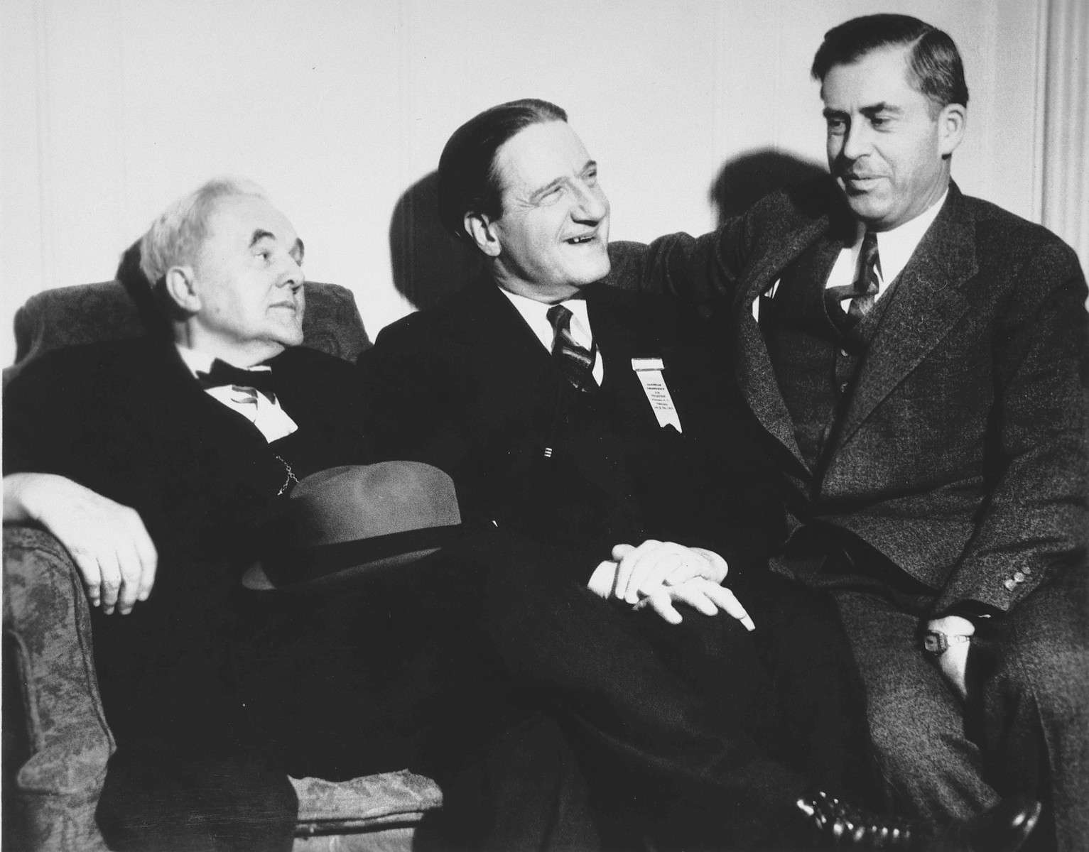 Henry Wallace meets with Rabbi Stephen Wise and George Norris.