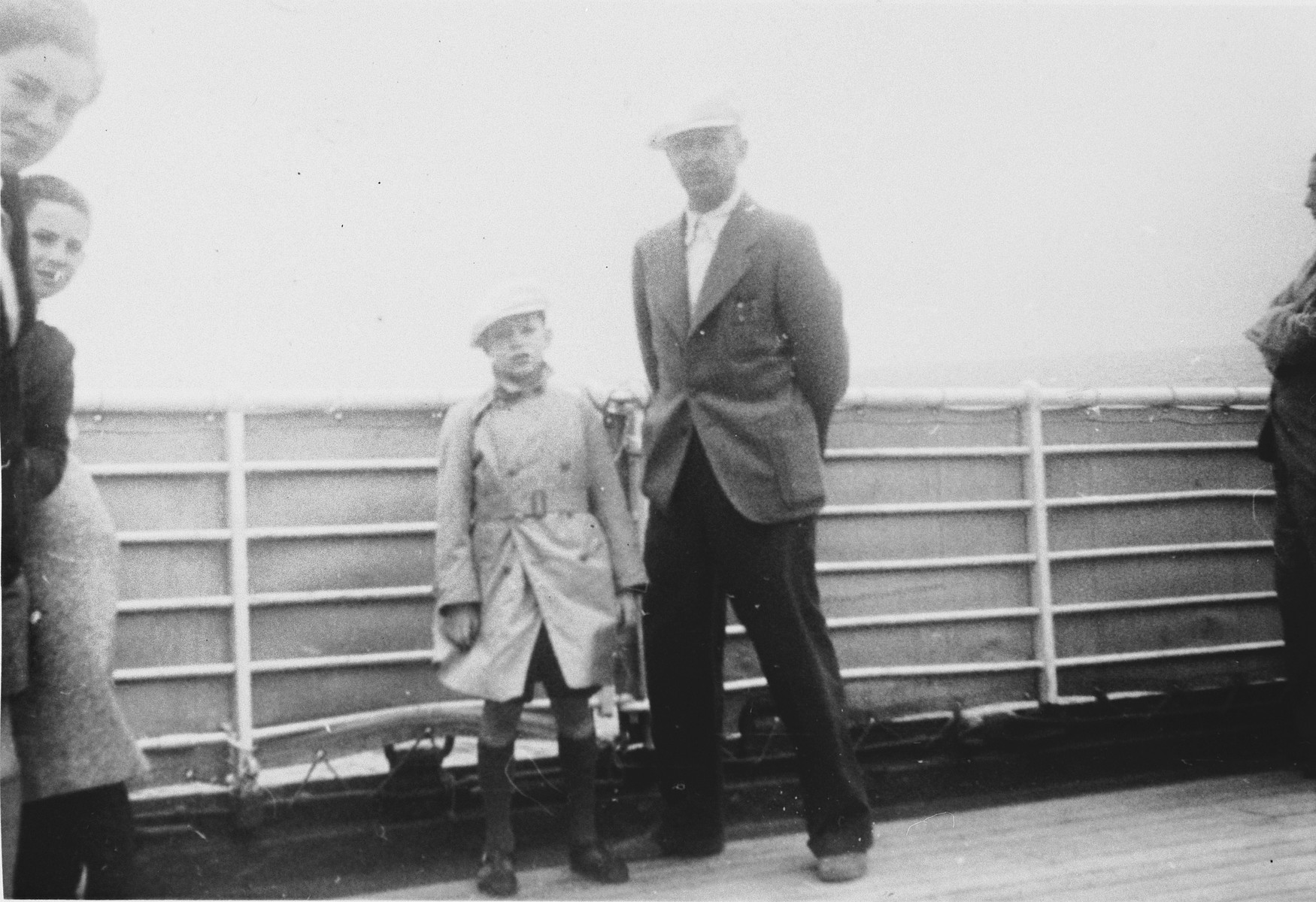 Peter and Jan Chraplewski pose on the deck of the St. Louis.