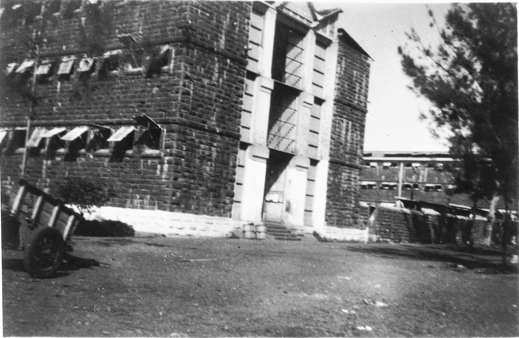 View of the prison in Mauritius that housed the Jewish internees.