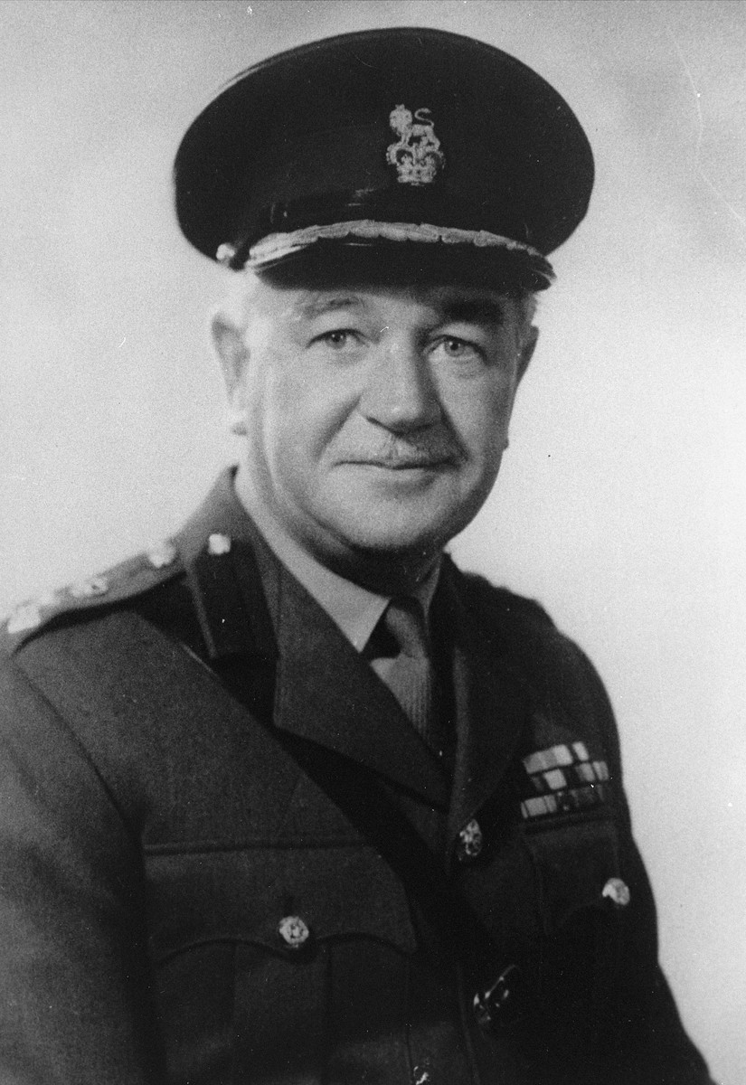 Portrait of Major General James Alexander Deans Johnston (1911-1988), British Royal Army Medical Corps.  At the time of the liberation of Bergen-Belsen, Johnston was commanding officer of the 32nd Casualty Clearing Station, which played a crucial role in the British Army's relief operations.