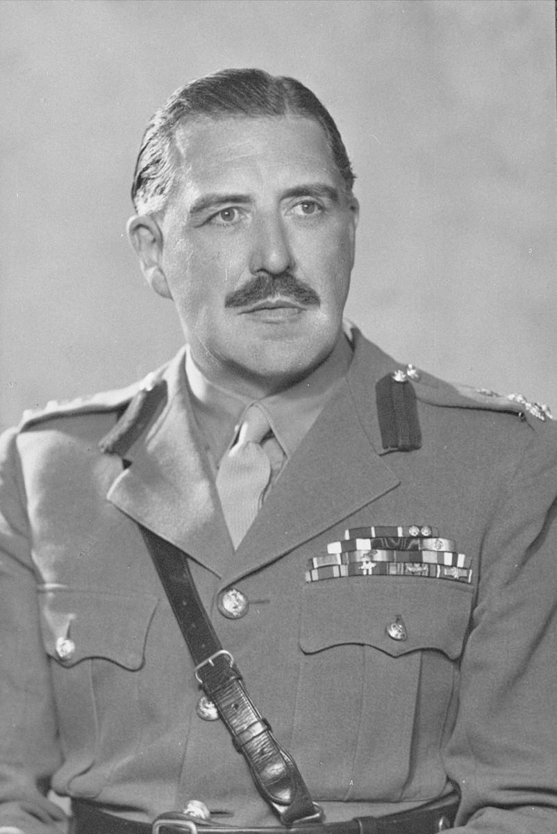Brigader General Glyn Hughes, one of the liberators of Bergen-Belsen.