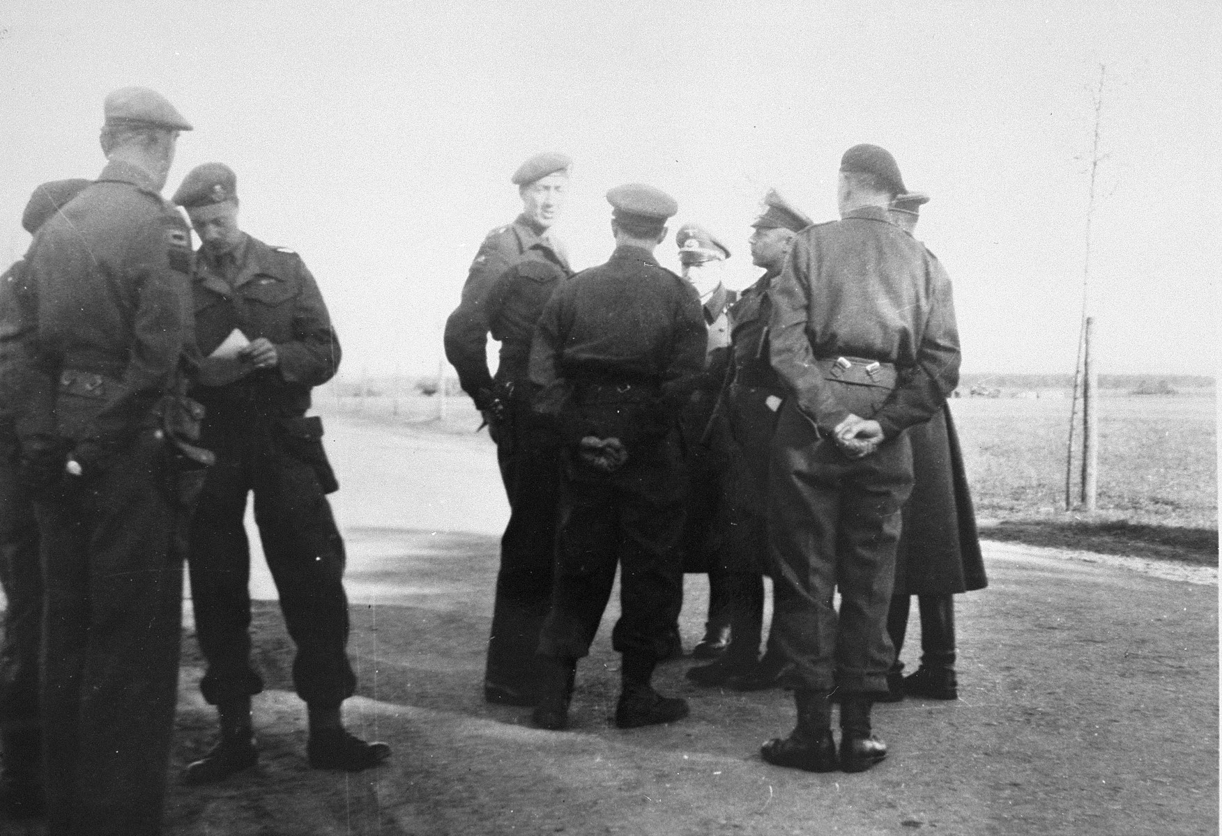 German officers officially surrender Bergen-Belsen concentration camp to the British.