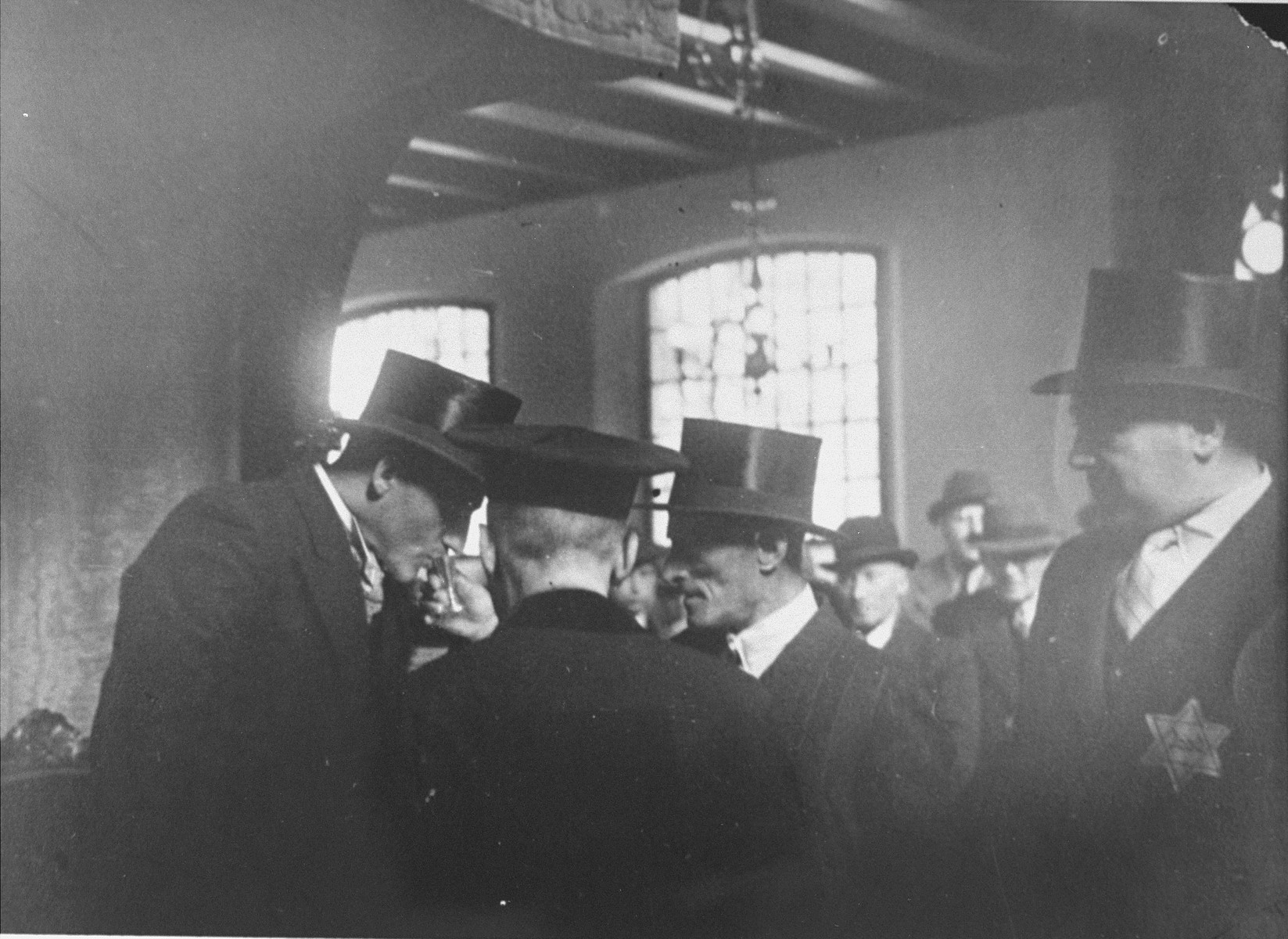 The bridegroom Herman de Leeuw is given a sip of wine during his wedding ceremony at the Sephardic synagogue in the Jewish quarter of Amsterdam.