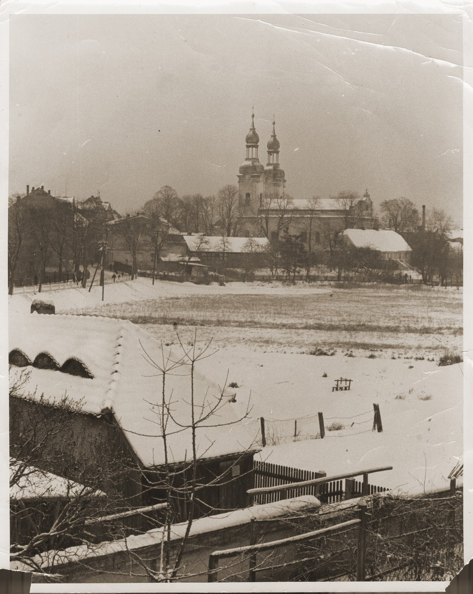 View of Zbaszyn, the site of a refugee camp for Jews of Polish nationality, who were expelled from Germany.