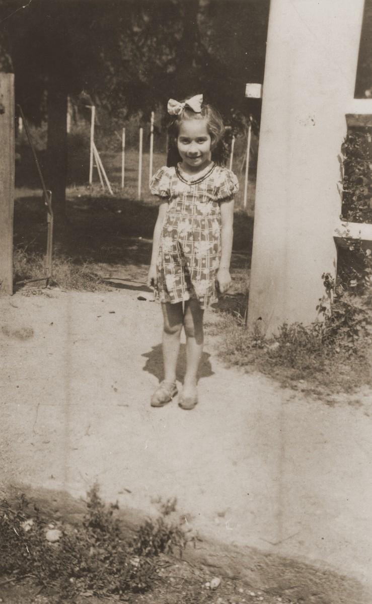 Portrait of Rivka Tuchsznajder as a hidden child in Savoie, France.