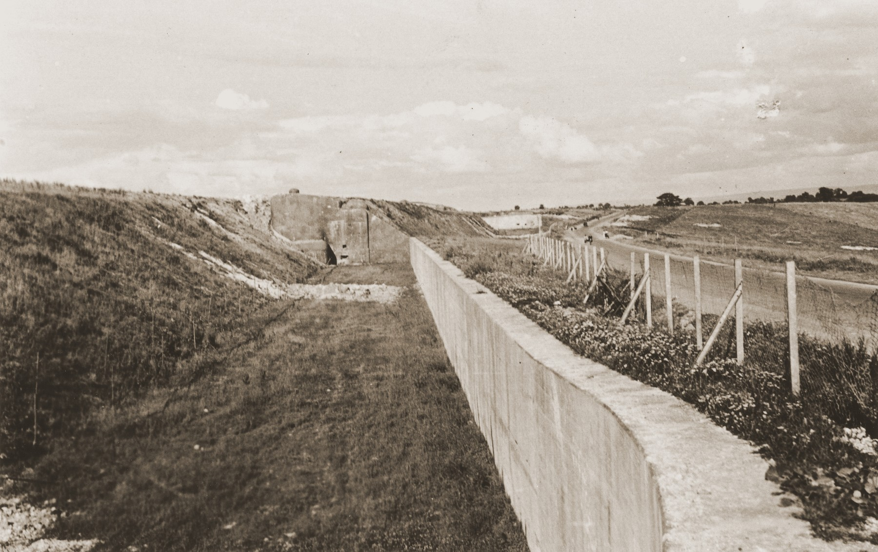 View of a section of the Maginot Line after the defeat of France.