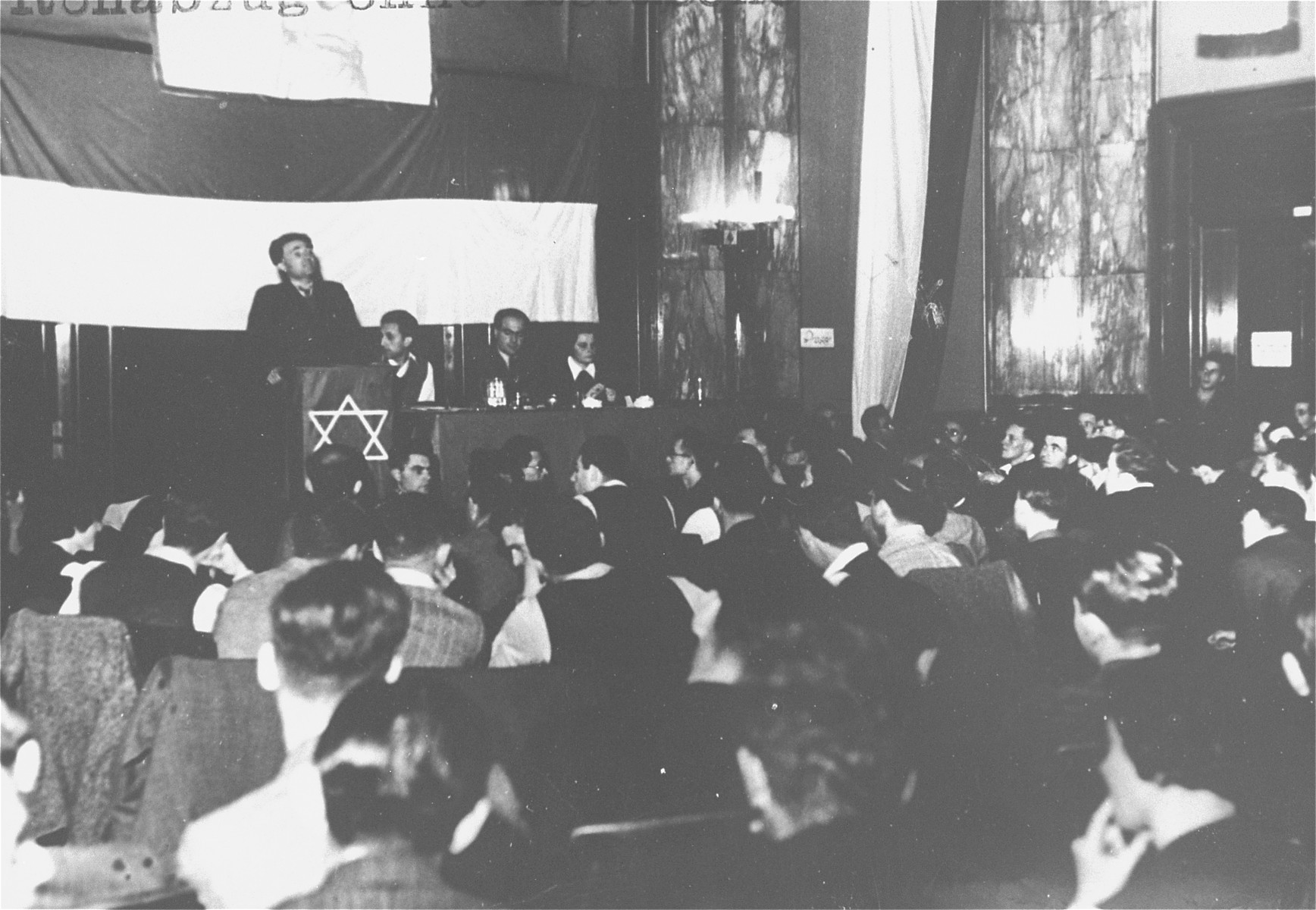 A meeting of German Jews in a synagogue in Berlin.