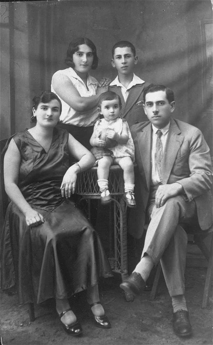 Studio portrait of the  Szczupacki family.