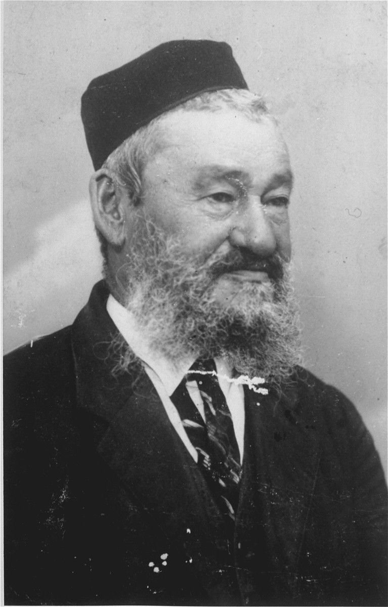 Portrait of Yehuda Leib Gaenger, the grandfather of Amalie Petranker.