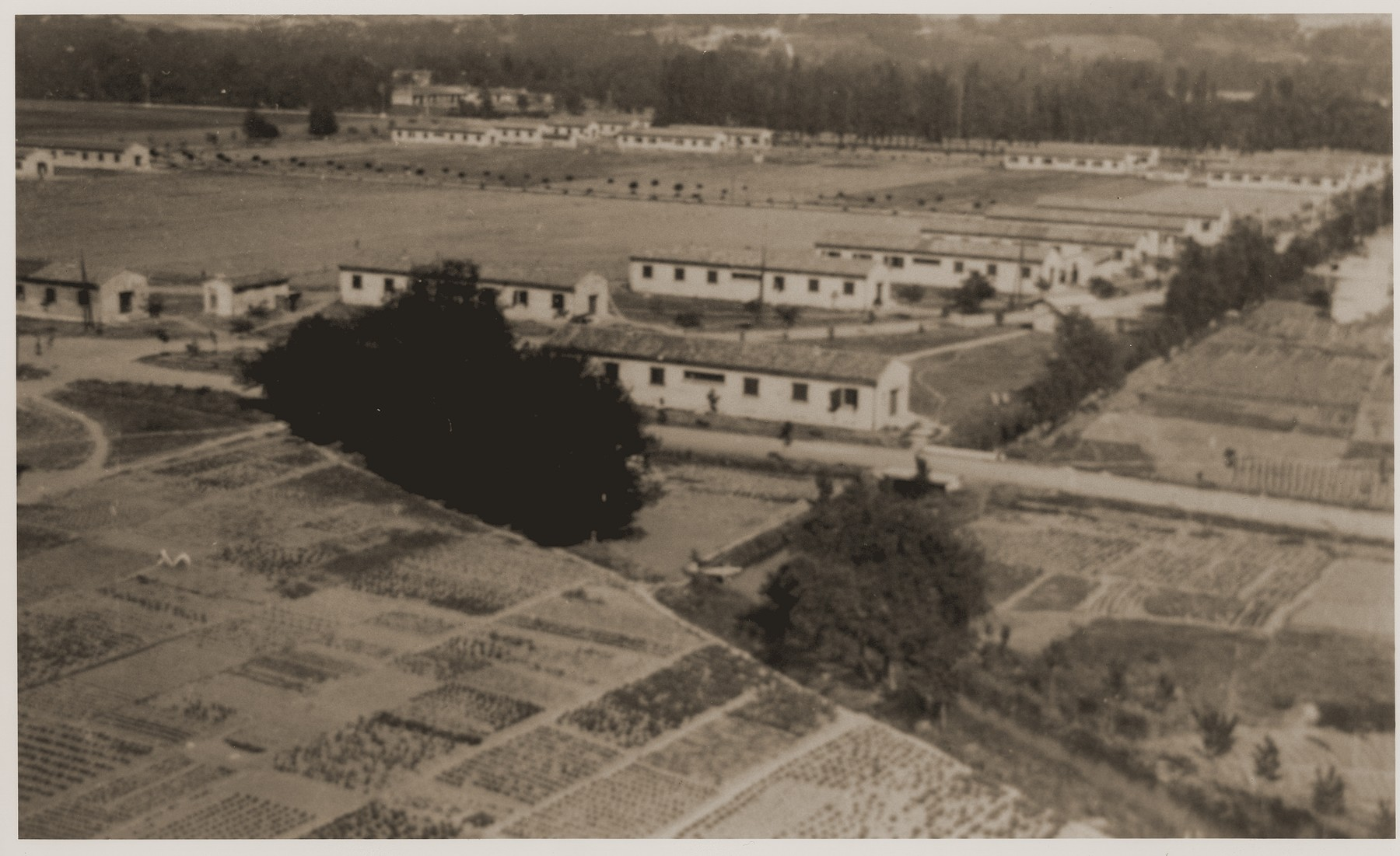 An aerial view of the Recebedou camp.