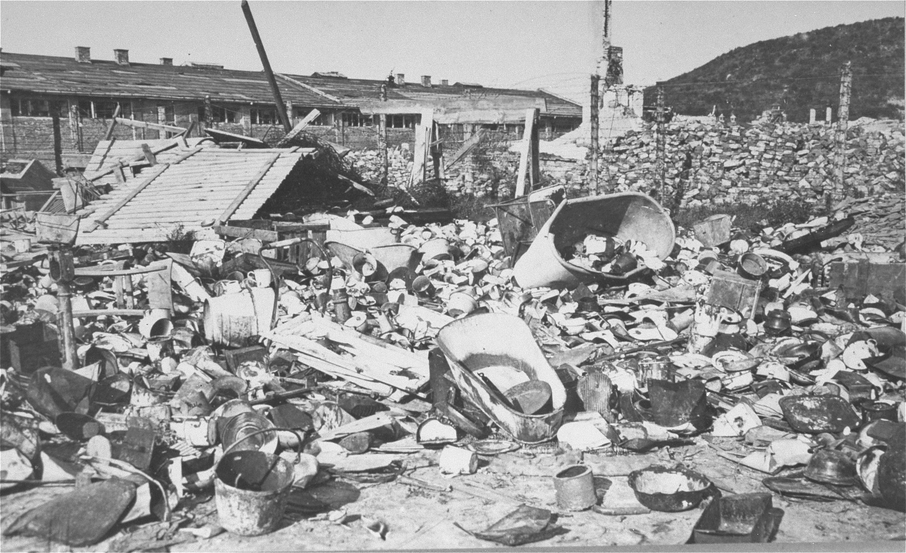 Prisoners' personal effects found in Janowska by the Red Army.