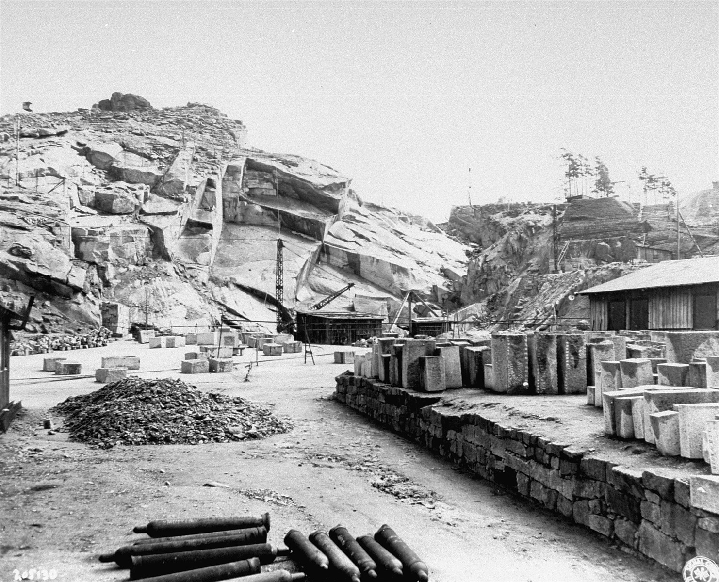 The quarry in the Flossenbuerg concentration camp.