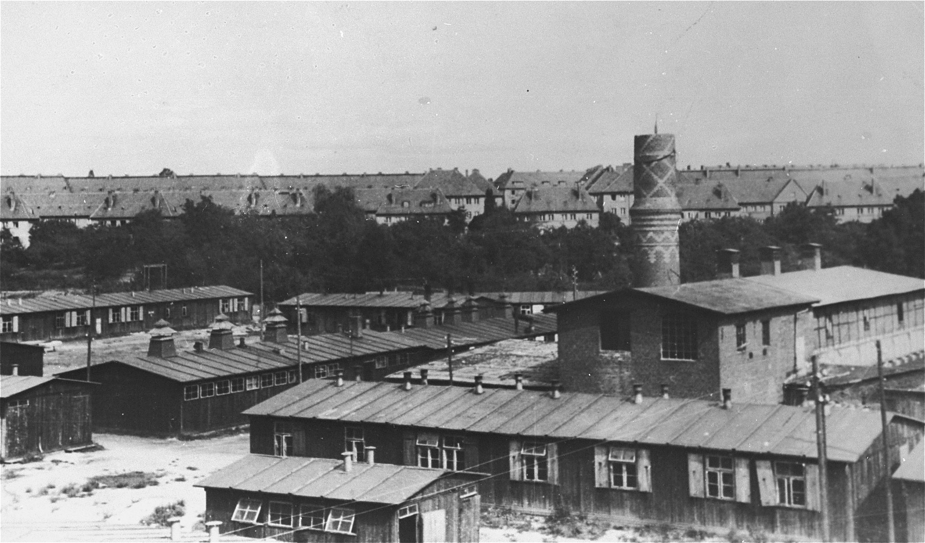 The Biesinitzer Grund (Goerlitz) concentration camp, a sub-camp of Gross-Rosen, after liberation.