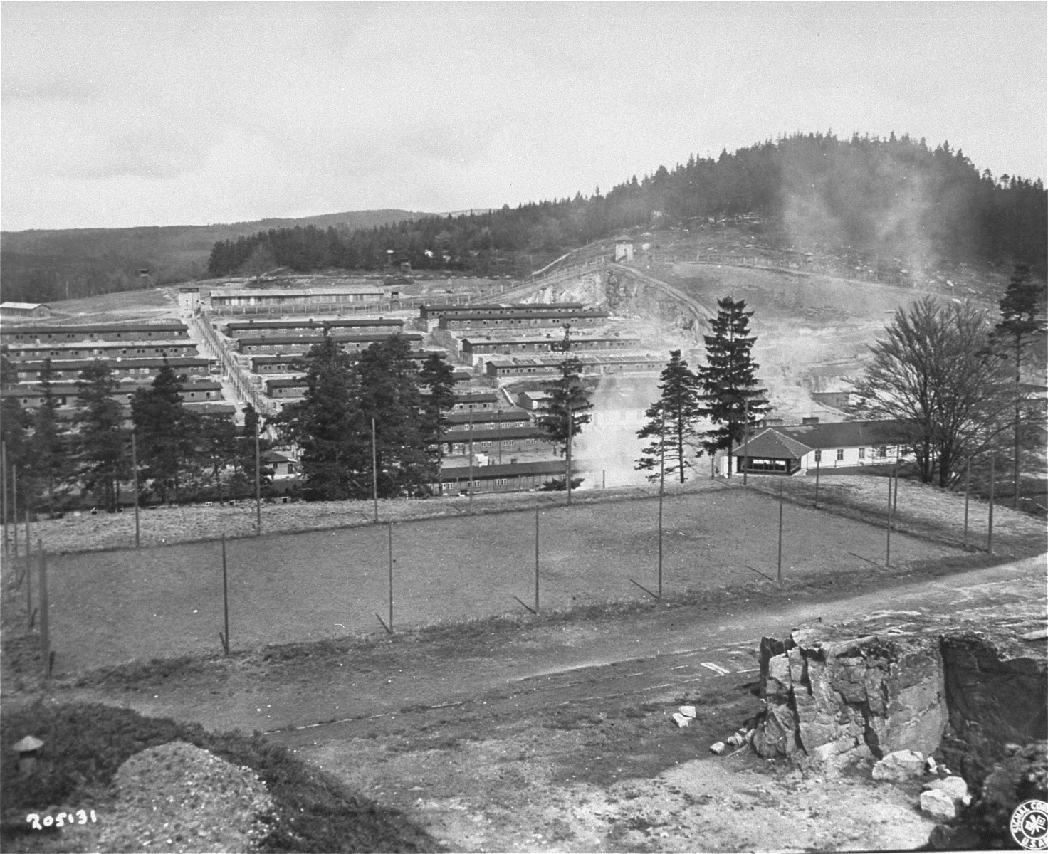 The Flossenbuerg concentration camp after liberation.