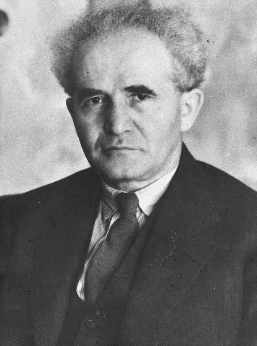 Portrait of David Ben-Gurion, Chairman of the Jewish Agency for Palestine Executive during a visit to Warsaw.