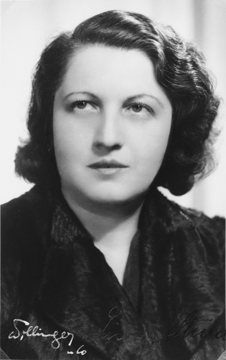 "Autographed portrait of Lisa Altura, a member of the International Committee for European Immigrants in Shanghai.  One photograph from the International Committee album, ""Introducing the I.C. Staff"" presented to I.C. secretary Paul Komor on August 7, 1941 in Shanghai."