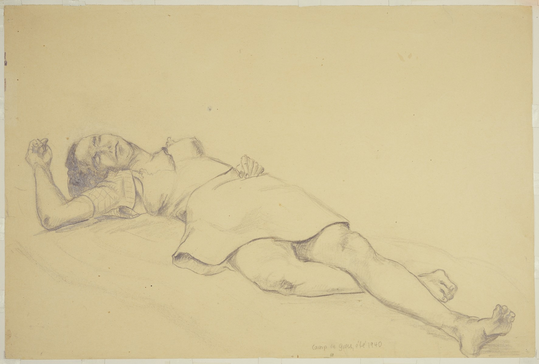 """Hungarian Internee Exhausted by the Heat"" by Lili Andrieux."
