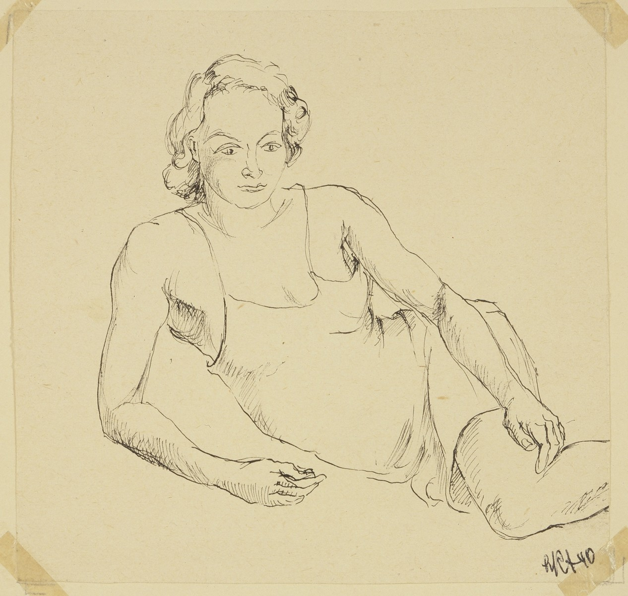"""Woman in her Slip"" by Lili Andrieux."