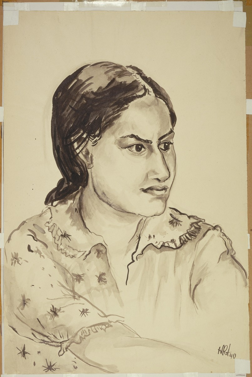 """""""Young Hindu Woman"""" by Lili Andrieux."""