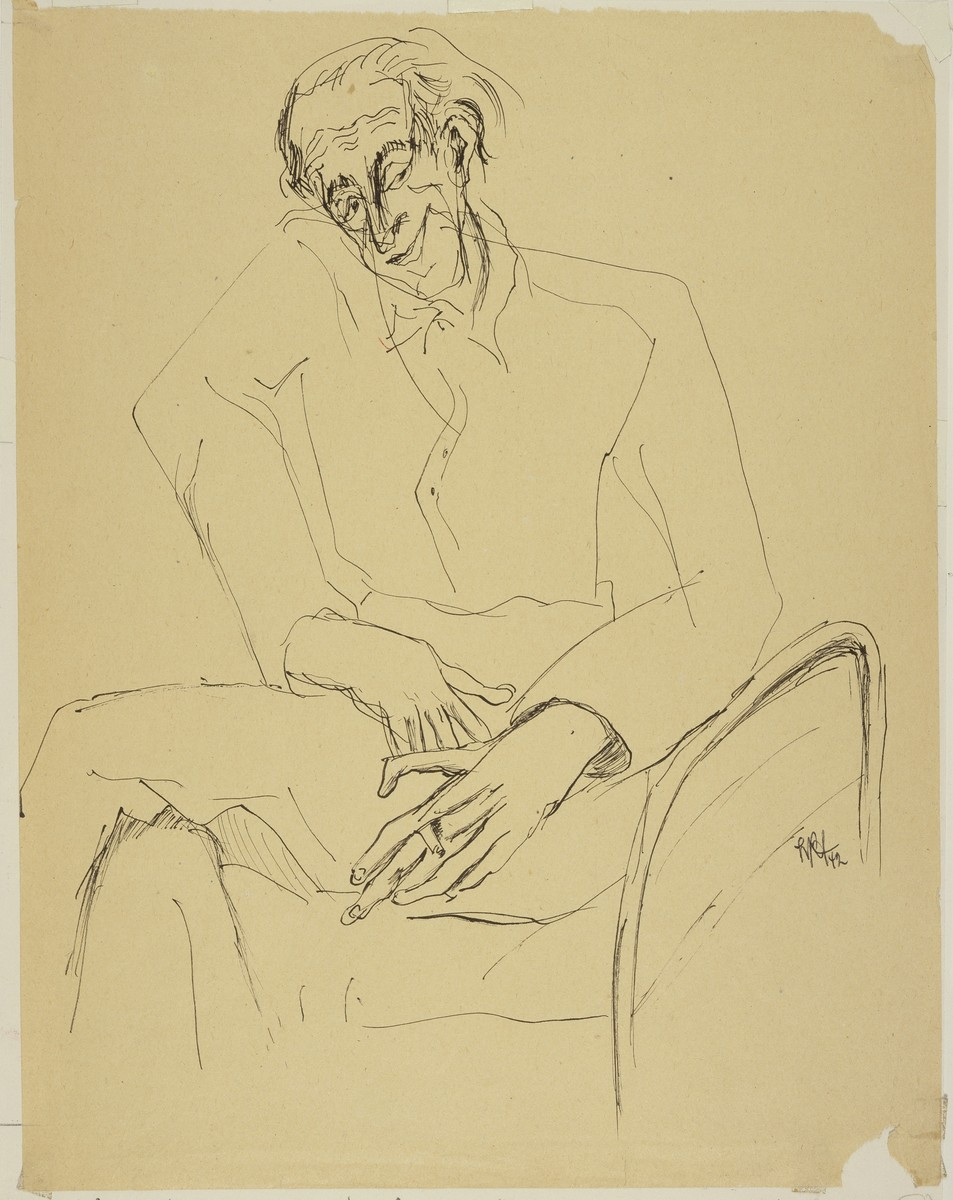 """""""Jewish Philosopher with Cigarette"""" by Lili Andrieux."""