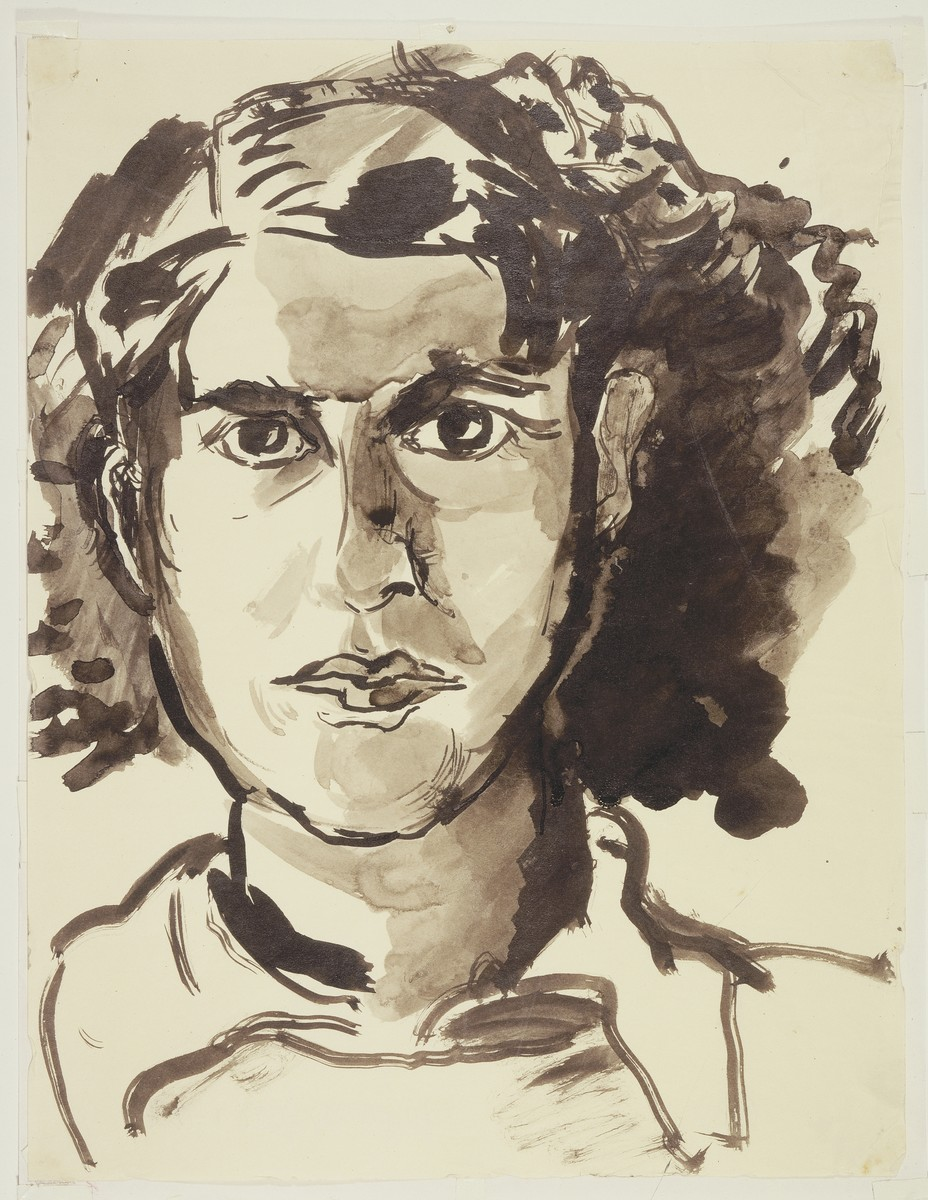 """Refugiee Espagnole"" (Spanish Refugee Woman) by Lili Andrieux."