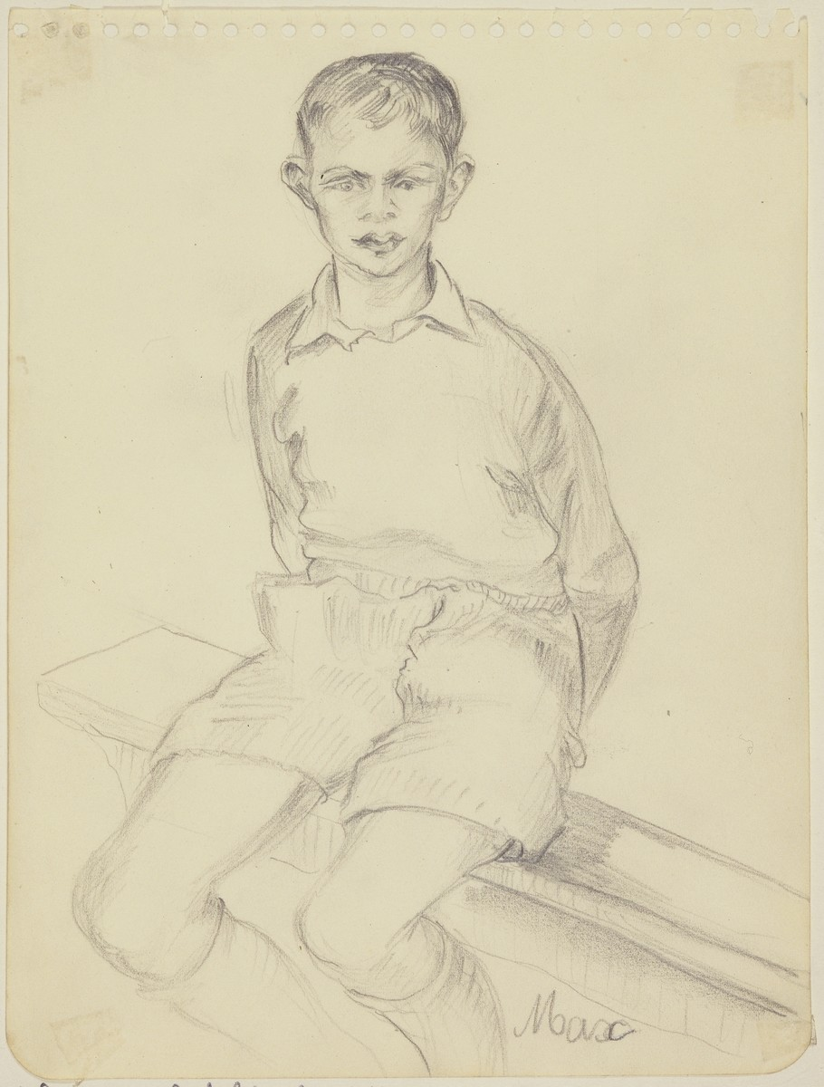 """Young Boy, 'Max'"" by Lili Andrieux."