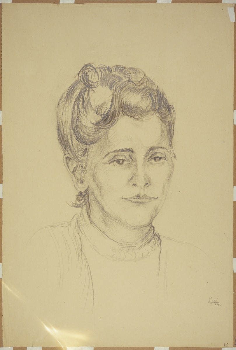 """""""Woman with Upswept Hairdo, Chef de Barraque"""" by Lili Andrieux."""