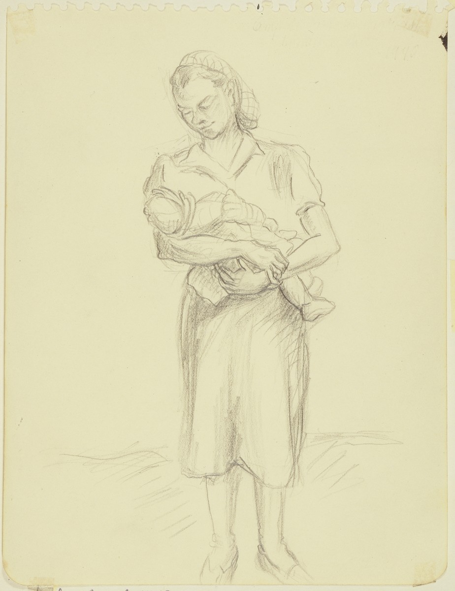 """Hungarian Inmate with her Baby"" by Lili Andrieux."