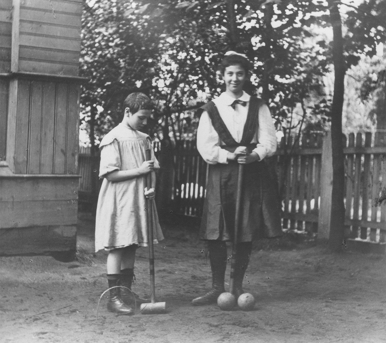 Anna and Emma (Emilia) Mikolaevsky at their dacha in the village of Strelna, a suburb of St. Petersburg.