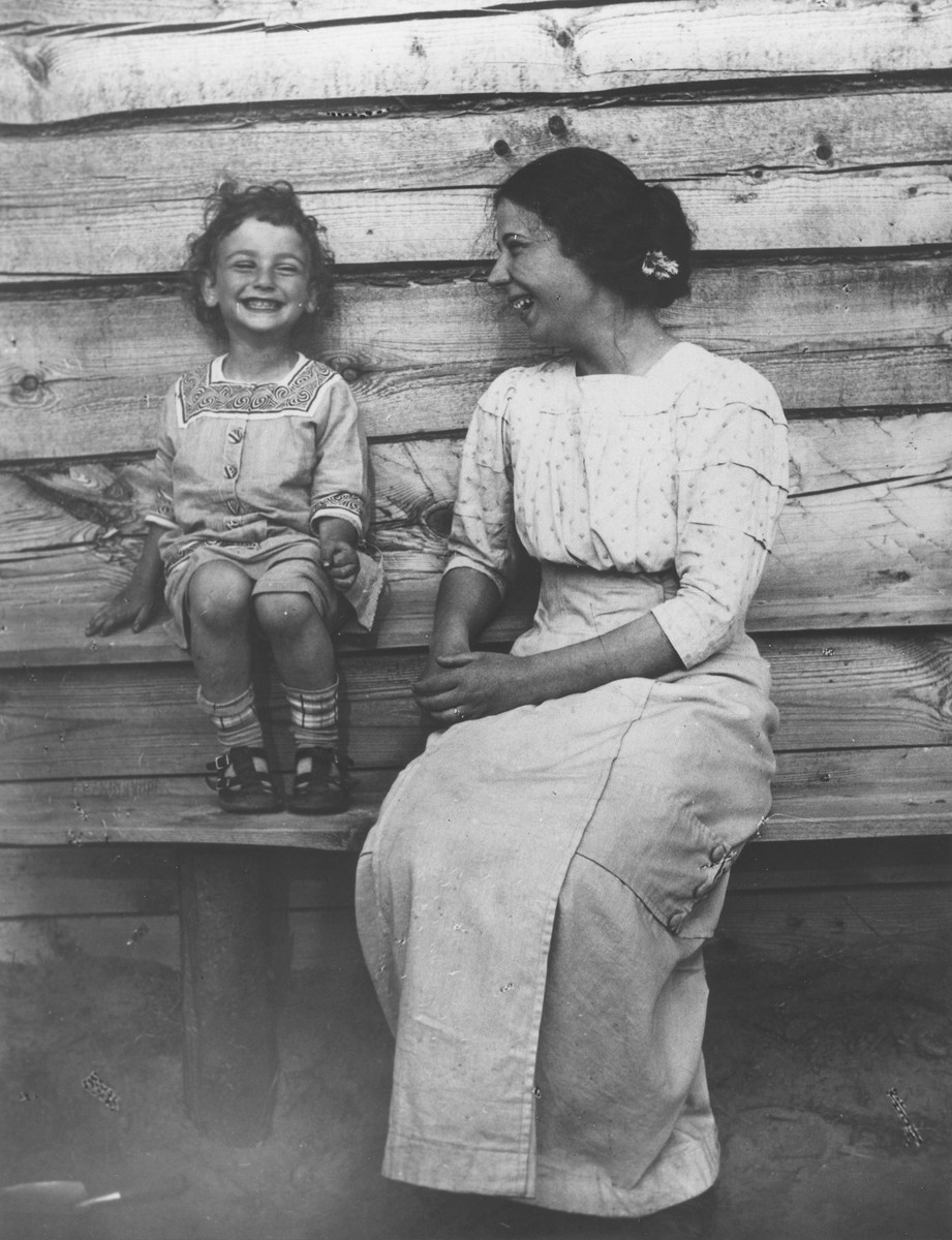 Close-up of Anna Mikolaevsky and her sister Maria's son Sasha.