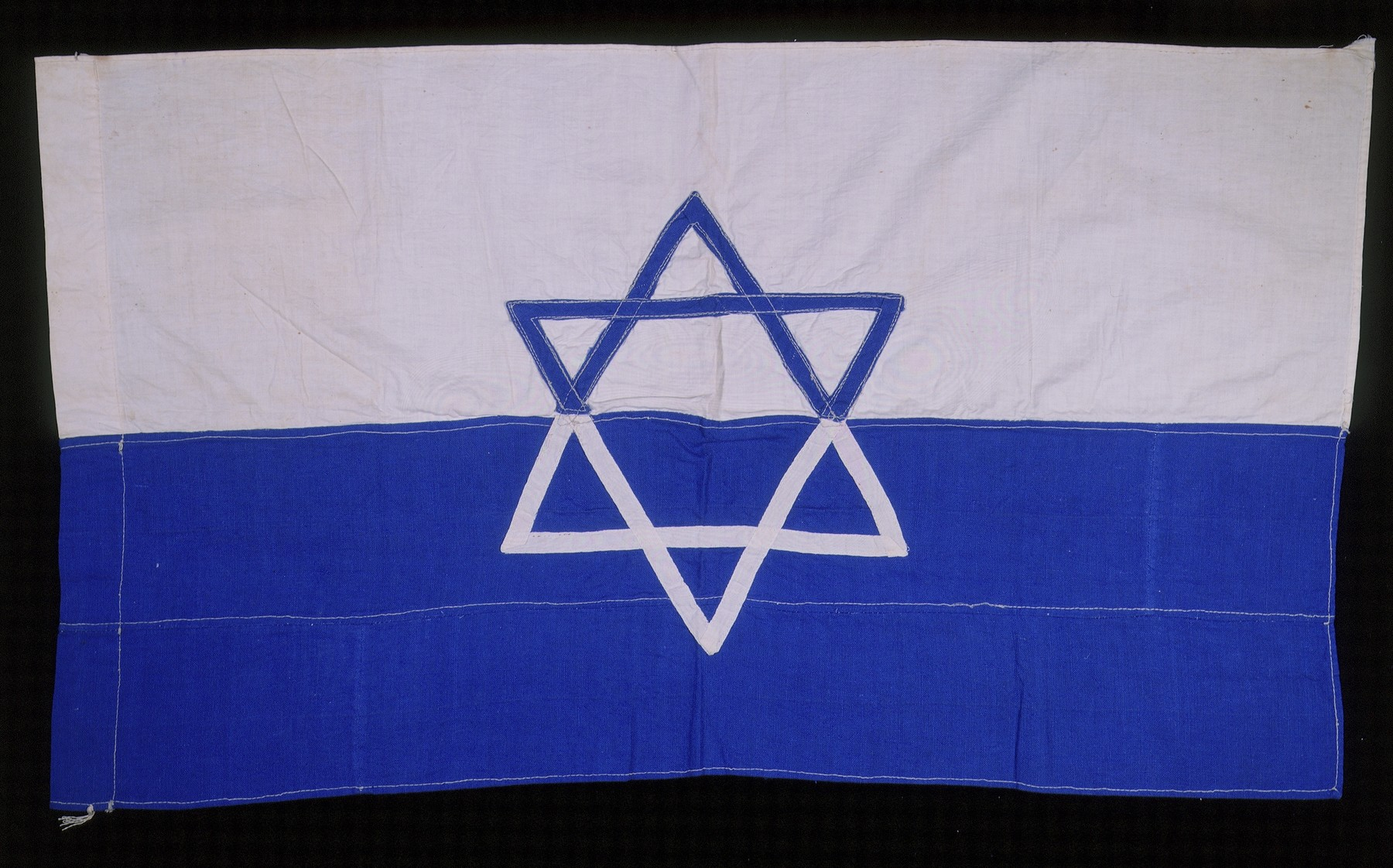 Home-made Zionist flag produced in Shanghai, China.
