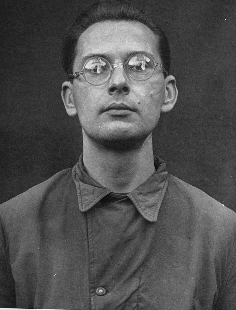 Portrait of Rudolf Brandt, a defendant in the Medical Case Trial at Nuremberg.
