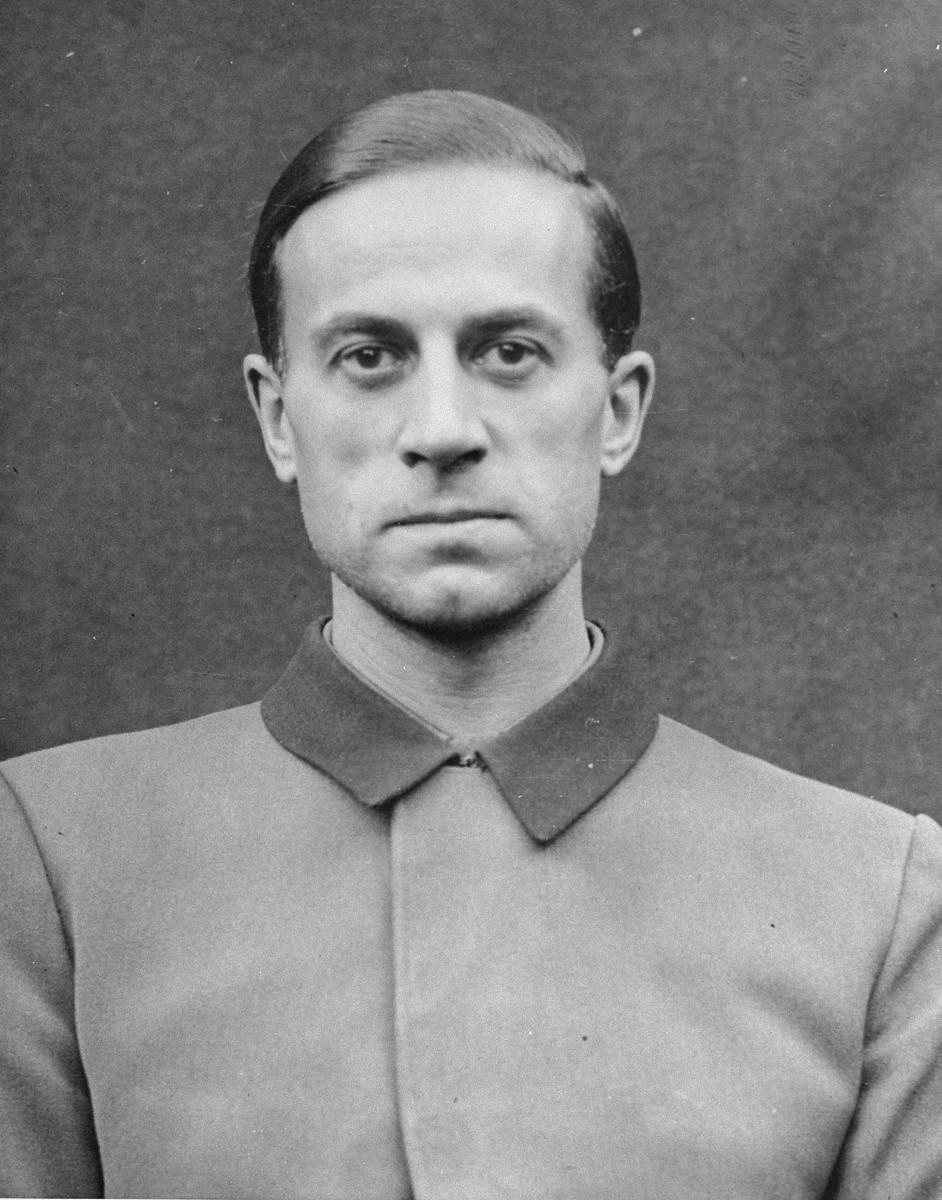 Portrait of Karl Brandt as a defendant in the Medical Case Trial at Nuremberg.
