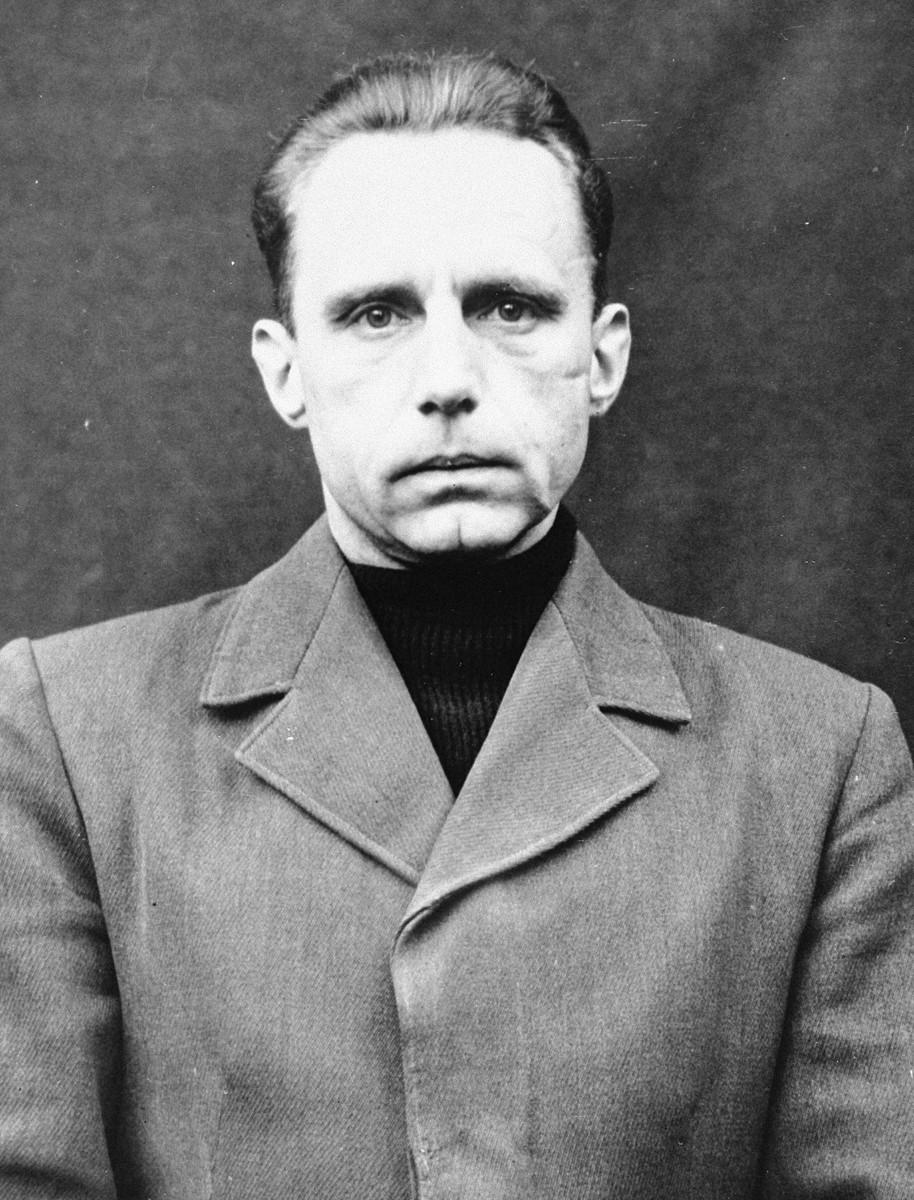Portrait of Wilhelm Beiglboeck as a defendant in the Medical Case Trial at Nuremberg.
